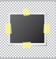 Abstract photo frame fixed sticky tape vector