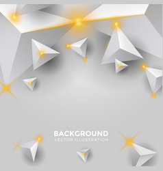 abstract shiny silver white triangle background vector image
