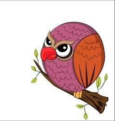 angry owl vector image