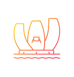 Artscience museum gradient linear icon vector