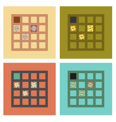Assembly flat icons game poker table vector
