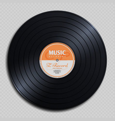 Audio analogue record vinyl vintage disc isolated vector