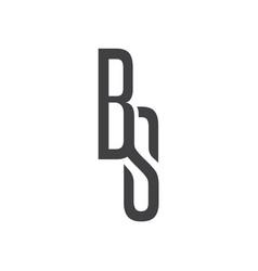 B s letter logo lettermark bs monogram elegant lux vector