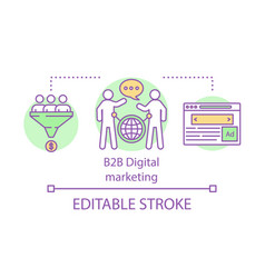 B2b digital marketing concept icon business vector
