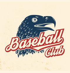 baseball club badge concept vector image