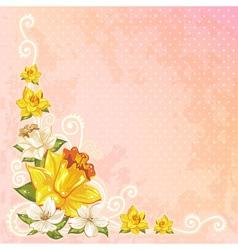 Beautiful spring floral postcard vector