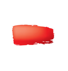 brush stroke of red paint on white background vector image
