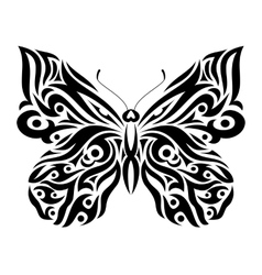 Butterfly in tribal design vector
