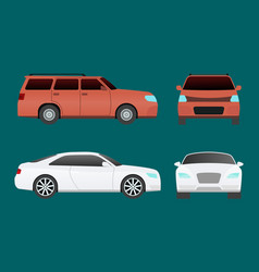 Car vehicle transport type design travel race vector