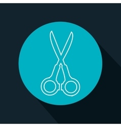 cartoon scissors school tool graphic isolated vector image