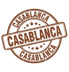 Casablanca stamp vector