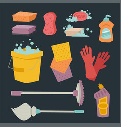 cleanser bottle chemical housework product care vector image