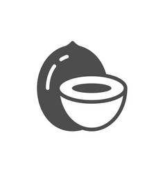 Coconut or cocoanut glyph icon vector