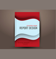 Cover design template annual report flyer vector
