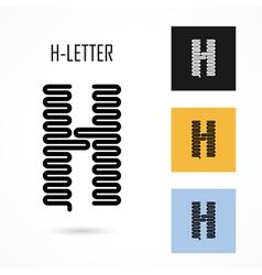 Creative H - letter icon abstract logo design vector