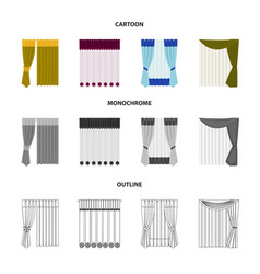 Curtains drapes garters and other web icon in vector