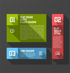 Design elements template long shadow style vector image