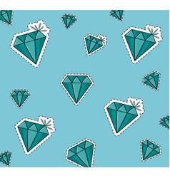 Diamonds background cartoons vector