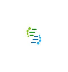 Dna cell sign logo vector