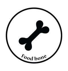 Dog food bone icon vector image