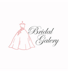 dress boutique bridal galery logo sign template vector image