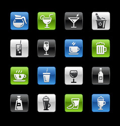 drinks icons gelbox series vector image
