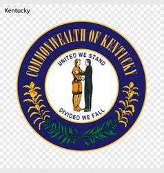 emblem state vector image