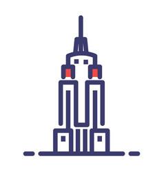 Empire state building flatoutline vector