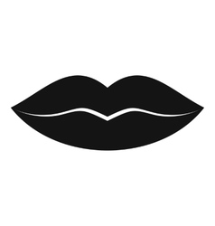 Female lips icon simple style vector