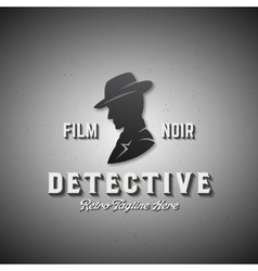 Film Noir Detective Abstract Emblem Label vector