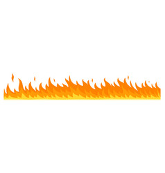 flame banner horizontal flat style vector image
