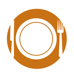 Fork and knife cutlery vector