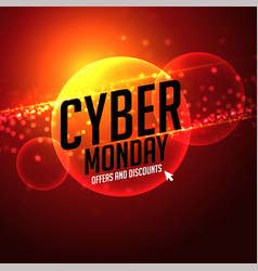Futuristic cyber monday offer and discount vector