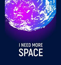 futuristic space planet poster background vector image