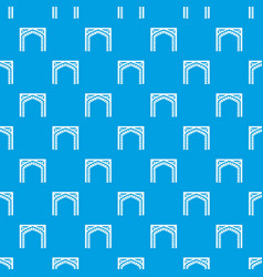 gate pattern seamless blue vector image