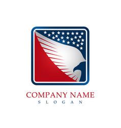 hawk patriotic logo vector image