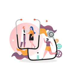 Healthcare concept for web banner website vector