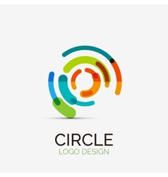 Hi-tech circle company logo business concept vector