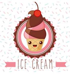 Ices scream kawaii vector