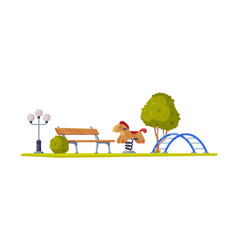 Kids playground as urban summer public area for vector