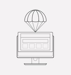 landing page icon line element vector image