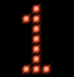 led digits 1 vector image