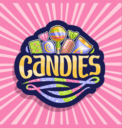 Logo for candies vector
