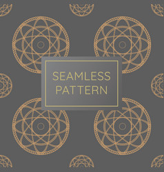 Luxury circle rope pattern golden seamless vector