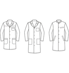 Medical gown vector