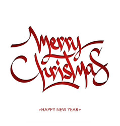 merry christmas calligraphy greeting vector image