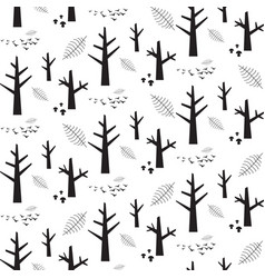 Monochrome seamless pattern with black vector