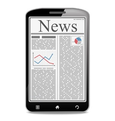 News in Mobile Phone vector image