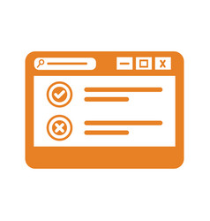 Online survey browsing icon logo vector