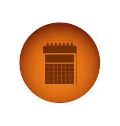 orange emblem calendar icon vector image